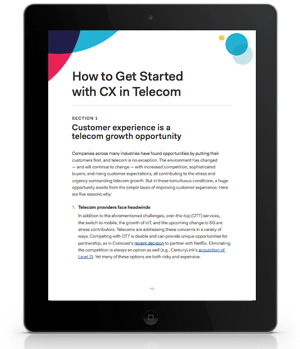 How to Get Started in CX Telecom Screen Shot
